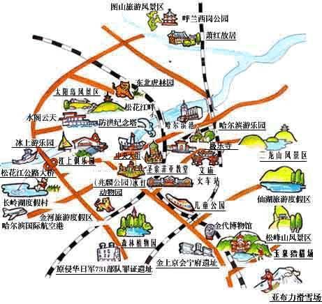 哈尔滨地图全图 哈尔滨市地图全图 哈尔滨地图高清全图