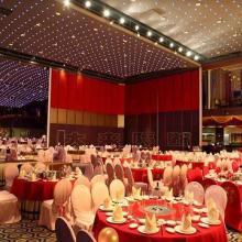 供应杭州会议室移动隔断报价 包厢折叠门,包房折叠门,活动屏风图片
