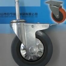 供应4寸灰胶插杆式脚轮万向轮批发