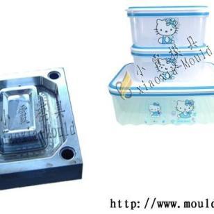 方形玻璃保鲜盒模具加工图片