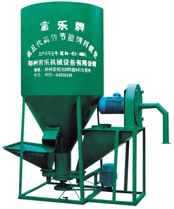 供应时产2吨立式粉碎混合机粉料加工机组饲料加工设备厂家