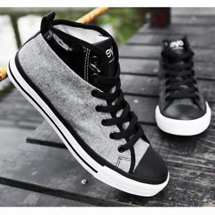 高帮帆布鞋男单鞋男士休闲鞋男鞋秋季鞋韩版靴子布鞋