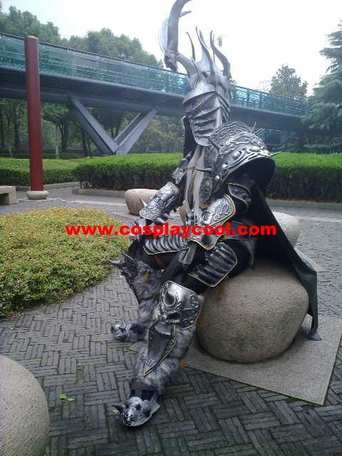 上海cosplay服装新推魔兽世界 盔甲 巫妖王 阿尔 高清图片