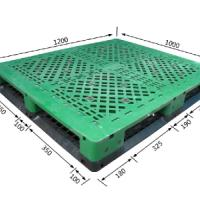 高载重型塑料托盘/力扬塑业供应田字网格1210置14根钢管托盘