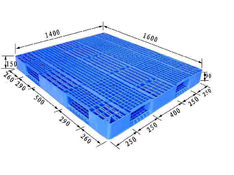 供应高载重型托盘/物流化工用塑料托盘,双面网格1614150卡板
