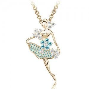 毛衣 项链/供应芭蕾舞女孩项链,舞动青春,奥地利水晶毛衣链图片