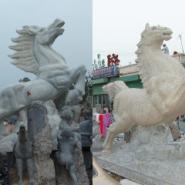 中央美院工艺师石雕马踏飞燕骏马图片