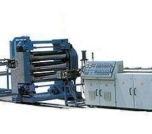 供应热收缩带套生产线塑料片材挤出机,热收缩带涂胶机,热收缩带基材设备厂家青岛乐力友机械公司批发