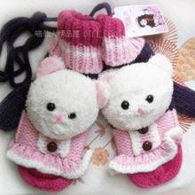 韩版冬季女士可爱连指手套加厚保暖送女生送女友生日礼物创意实用批发