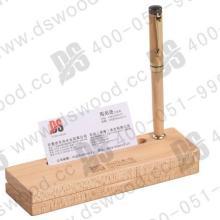 供应礼赠品枫木斜面单沟笔盒卡面槽东尚木业批发