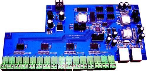 16384点16口路LED控制器100M以太网网口电脑实时播放联机视