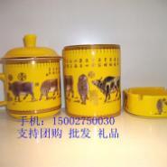 湘醴窑-五牛图小号办公三件套图片