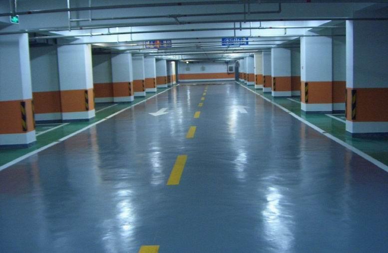 合肥车库地坪环氧地下停车场地坪图片