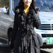 韩国SZ两穿貉子毛棉袄外套图片