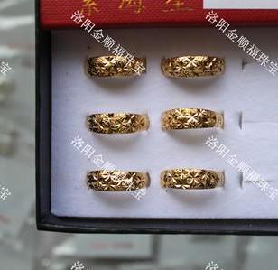 河北批发18K稀金戒指指环饰品图片