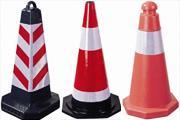 兰州交通设施塑料橡胶交通路锥橡胶图片
