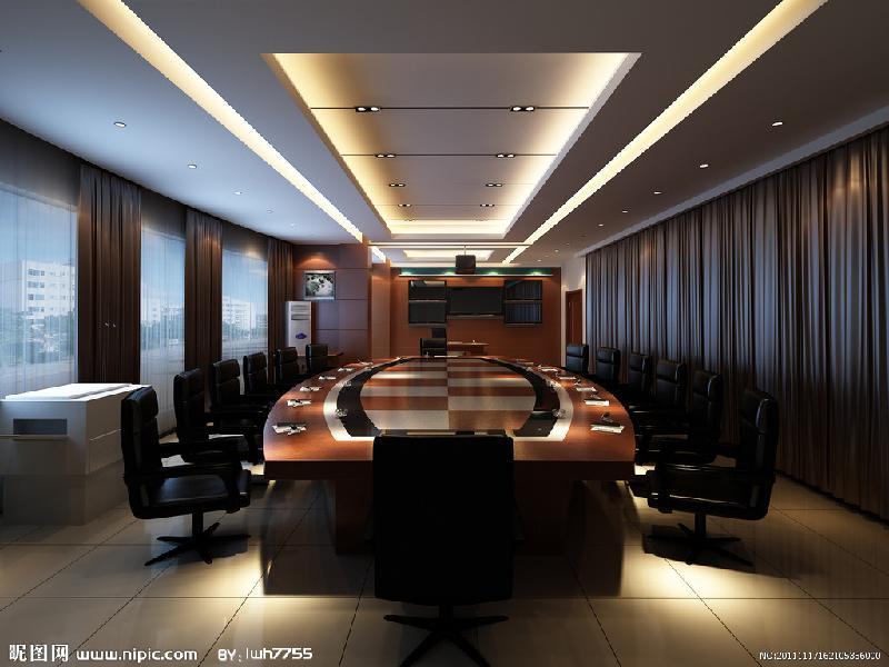 临沂会议室装修临沂会议室设计原图高清图片