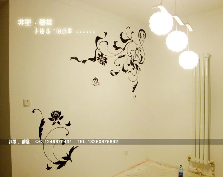 供应沙发背景墙墙体手绘