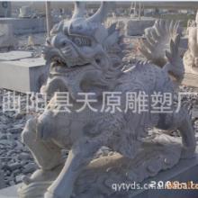 供应石雕麒麟瑞兽吉祥招财雕塑动物石雕雕刻