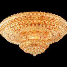 供应经典客厅水晶吸顶灯圆形两层水晶灯豪华现代水晶灯厂家直销灯具灯饰图片