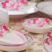 供应骨瓷餐具套装夏天的味道,餐具套装(碗,勺,碟,锅)