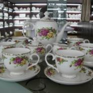 唐山骨瓷厂家批发15头咖啡具图片