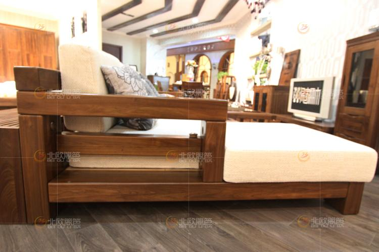 实木转角沙发 实木转角沙发供货商 供应百强黑森林 北美纯黑胡桃实木