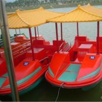 供应4人玻璃钢仿古船,4人玻璃钢仿古船,佛山美富游艇厂家直销脚踏船