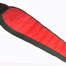 供应黑红羽绒带帽睡袋保暖效果很好睡袋