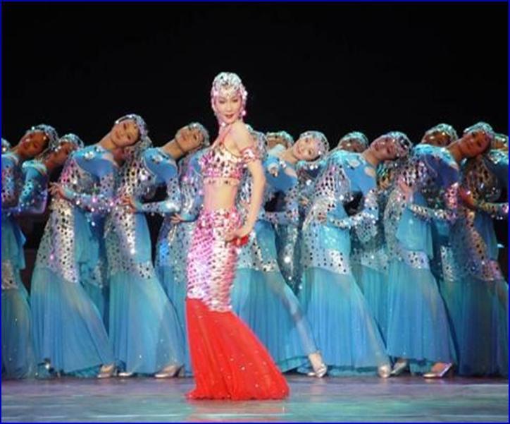 舞蹈吉庆有余 上海商业演出庆典策划模特礼仪音响灯光舞台高清图片