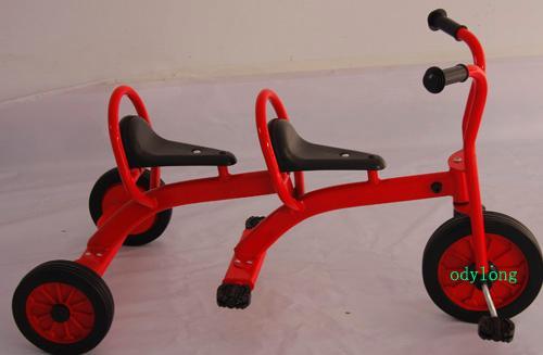 儿童三轮车图片|儿童三轮车样板图|双人儿童三
