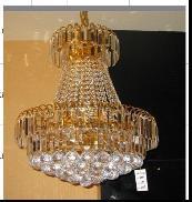 最优质的现代简约时尚黄水晶餐吊灯图片