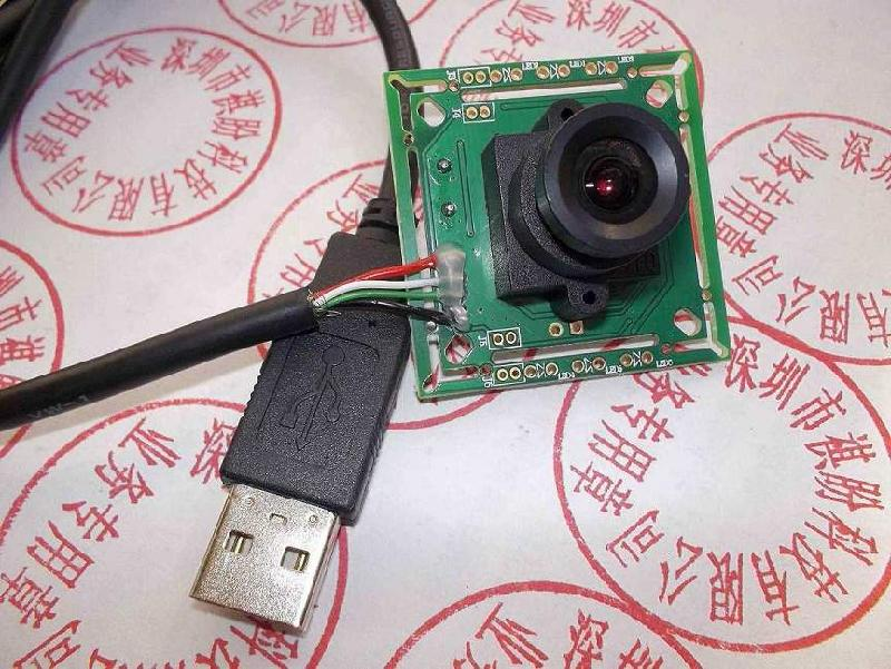 供应200w像素USB2.0接口无驱监控摄像头模组