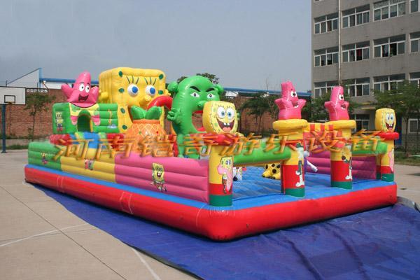 儿童蹦蹦床滑梯图片