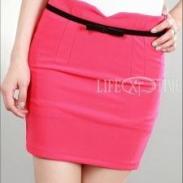韩版女装夏季糖果色短裙图片