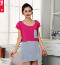夏装新款韩版女装批发瑞丽女装批发雪纺拼接连衣裙批发