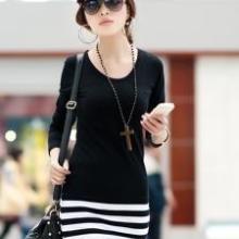 时尚韩版冬季加绒女装连衣裙服装厂家直销