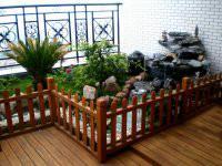 供应防腐木栏杆设计公司