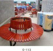 湖南防腐木公园椅图片