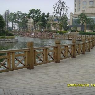 长沙防腐木围栏定做图片