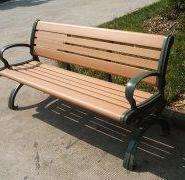 长沙塑木公园椅图片