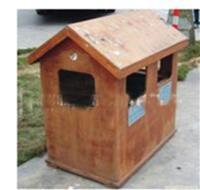 湖南防腐木垃圾桶制作价格图片