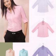 女衬衫长短袖修身职业女衬衫 上海衬衫厂家批量定做团体衬衣条纹衬衫