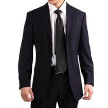 供应男式西服正装毛呢西装商务修身男士西服套装藏青色职业装图片