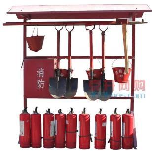 消防器材架及锹镐斧钩图片