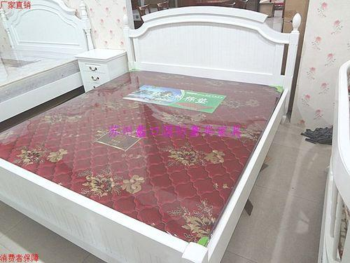 欧式板床象牙白床图片