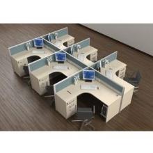 天津办公家具厂定做办公桌电脑桌写字台办公屏风职员卡位职员桌图片