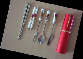 苏州心形笔筒加工订做情侣餐具套装图片