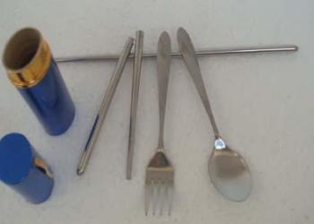 旅游笔筒餐具订货南昌铝盒餐具厂家图片