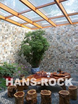 别墅下沉式庭院铝木复合阳光顶图片图片